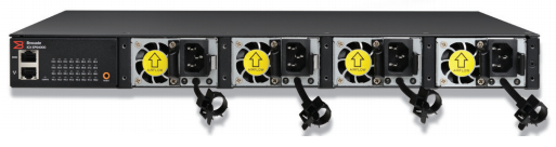 Figure 2: Ruckus ICX-EPS 4000 for the Ruckus ICX 7250, shown with four AC power supplies.