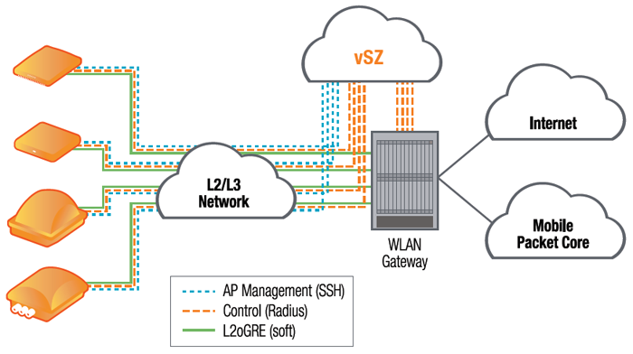 Figure 1 shows how the vSZ-H would be deployed in an actual network.