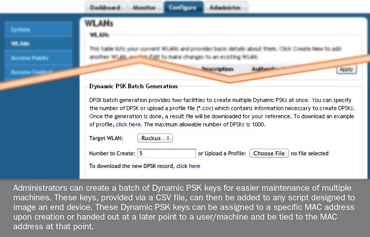 Dynamic PSK Batch Screenshot